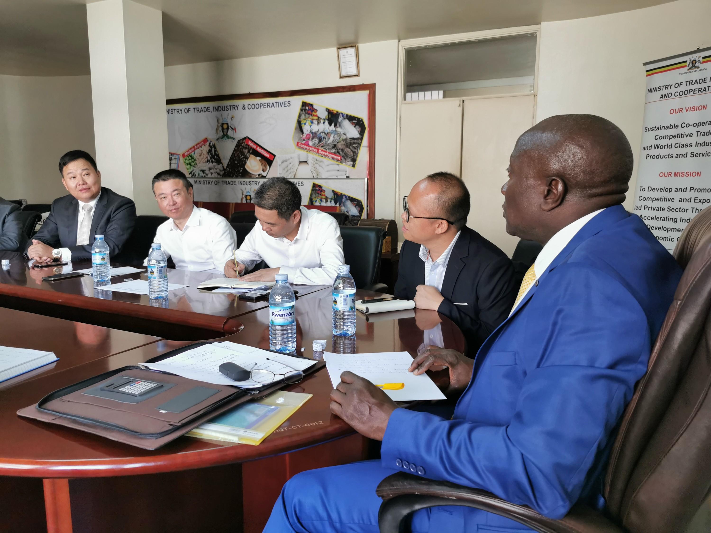 乌干达工业部长会见孙坚董事长