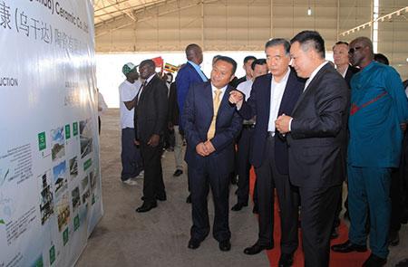 中国政协汪洋主席莅临威廉希尔公司手机app(乌干达)陶瓷有限公司纪实